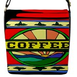 Coffee Tin A Classic Illustration Flap Messenger Bag (S)