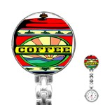 Coffee Tin A Classic Illustration Stainless Steel Nurses Watch