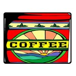 Coffee Tin A Classic Illustration Double Sided Fleece Blanket (Small)