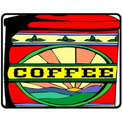 Coffee Tin A Classic Illustration Double Sided Fleece Blanket (medium)  by Nexatart