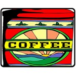 Coffee Tin A Classic Illustration Double Sided Fleece Blanket (Medium)