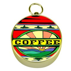 Coffee Tin A Classic Illustration Gold Compasses by Nexatart
