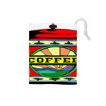 Coffee Tin A Classic Illustration Drawstring Pouches (Small)