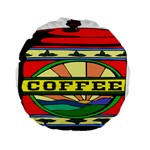 Coffee Tin A Classic Illustration Standard 15  Premium Flano Round Cushions