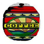 Coffee Tin A Classic Illustration Large 18  Premium Flano Round Cushions