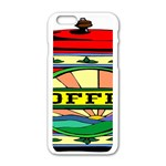 Coffee Tin A Classic Illustration Apple iPhone 6/6S White Enamel Case