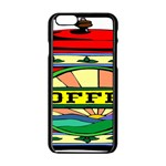 Coffee Tin A Classic Illustration Apple iPhone 6/6S Black Enamel Case