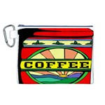 Coffee Tin A Classic Illustration Canvas Cosmetic Bag (L)