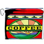 Coffee Tin A Classic Illustration Canvas Cosmetic Bag (XXXL)