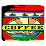 Coffee Tin A Classic Illustration Double Sided Flano Blanket (Small)