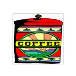 Coffee Tin A Classic Illustration Satin Bandana Scarf