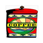 Coffee Tin A Classic Illustration Small Satin Scarf (Square)