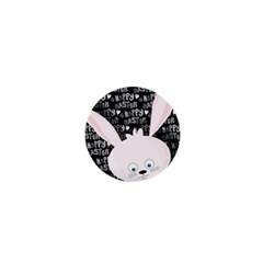 Easter Bunny  1  Mini Buttons by Valentinaart
