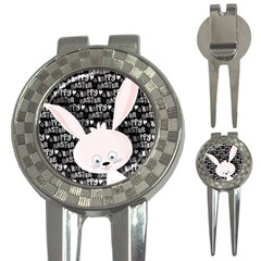 Easter Bunny  3 In 1 Golf Divots by Valentinaart