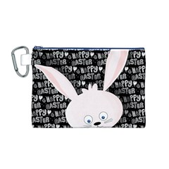 Easter Bunny  Canvas Cosmetic Bag (m) by Valentinaart