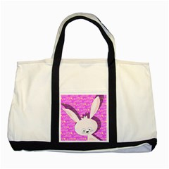 Easter Bunny  Two Tone Tote Bag by Valentinaart