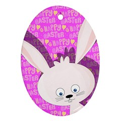 Easter Bunny  Oval Ornament (two Sides) by Valentinaart