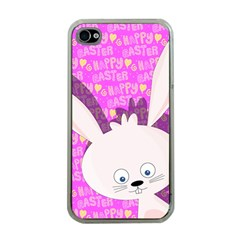 Easter Bunny  Apple Iphone 4 Case (clear) by Valentinaart
