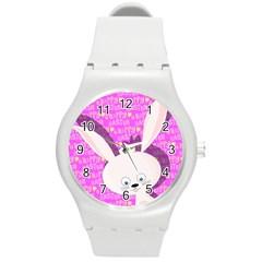 Easter Bunny  Round Plastic Sport Watch (m) by Valentinaart