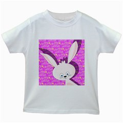 Easter Bunny  Kids White T Shirts by Valentinaart