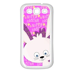 Easter Bunny  Samsung Galaxy S3 Back Case (white) by Valentinaart