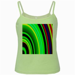 Multi Colorful Radiant Background Green Spaghetti Tank