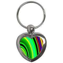 Multi Colorful Radiant Background Key Chains (heart)  by Nexatart