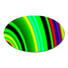 Multi Colorful Radiant Background Oval Magnet by Nexatart