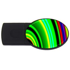 Multi Colorful Radiant Background Usb Flash Drive Oval (2 Gb)