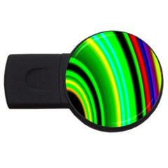 Multi Colorful Radiant Background Usb Flash Drive Round (4 Gb)