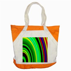 Multi Colorful Radiant Background Accent Tote Bag by Nexatart