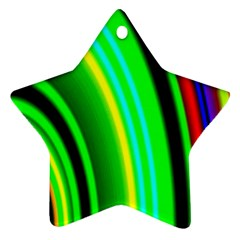 Multi Colorful Radiant Background Star Ornament (two Sides)