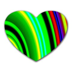Multi Colorful Radiant Background Heart Mousepads