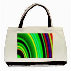 Multi Colorful Radiant Background Basic Tote Bag (two Sides)