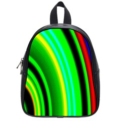 Multi Colorful Radiant Background School Bags (small)  by Nexatart