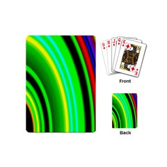 Multi Colorful Radiant Background Playing Cards (mini)  by Nexatart