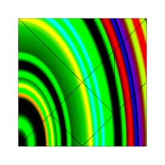 Multi Colorful Radiant Background Acrylic Tangram Puzzle (6  X 6 )