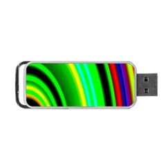 Multi Colorful Radiant Background Portable USB Flash (One Side)