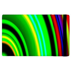 Multi Colorful Radiant Background Apple Ipad 2 Flip Case by Nexatart