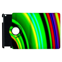 Multi Colorful Radiant Background Apple Ipad 2 Flip 360 Case by Nexatart