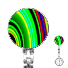 Multi Colorful Radiant Background Stainless Steel Nurses Watch by Nexatart