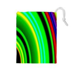 Multi Colorful Radiant Background Drawstring Pouches (large)  by Nexatart
