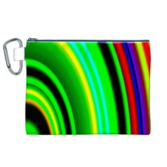 Multi Colorful Radiant Background Canvas Cosmetic Bag (xl) by Nexatart