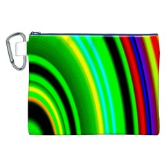 Multi Colorful Radiant Background Canvas Cosmetic Bag (xxl) by Nexatart