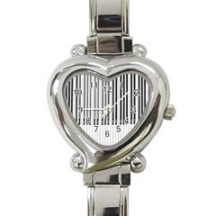 Abstract Piano Keys Background Heart Italian Charm Watch by Nexatart