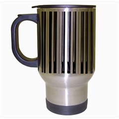Abstract Piano Keys Background Travel Mug (silver Gray) by Nexatart