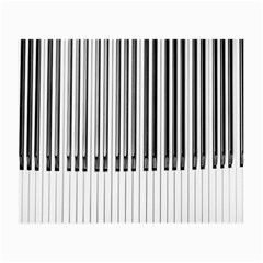Abstract Piano Keys Background Small Glasses Cloth