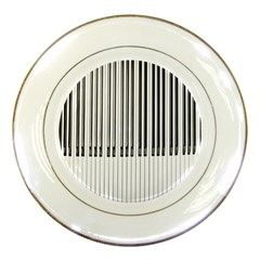 Abstract Piano Keys Background Porcelain Plates by Nexatart