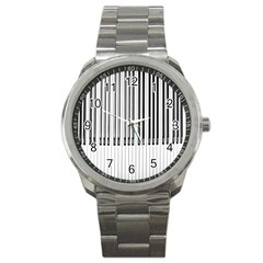 Abstract Piano Keys Background Sport Metal Watch by Nexatart
