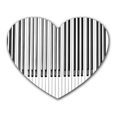 Abstract Piano Keys Background Heart Mousepads by Nexatart